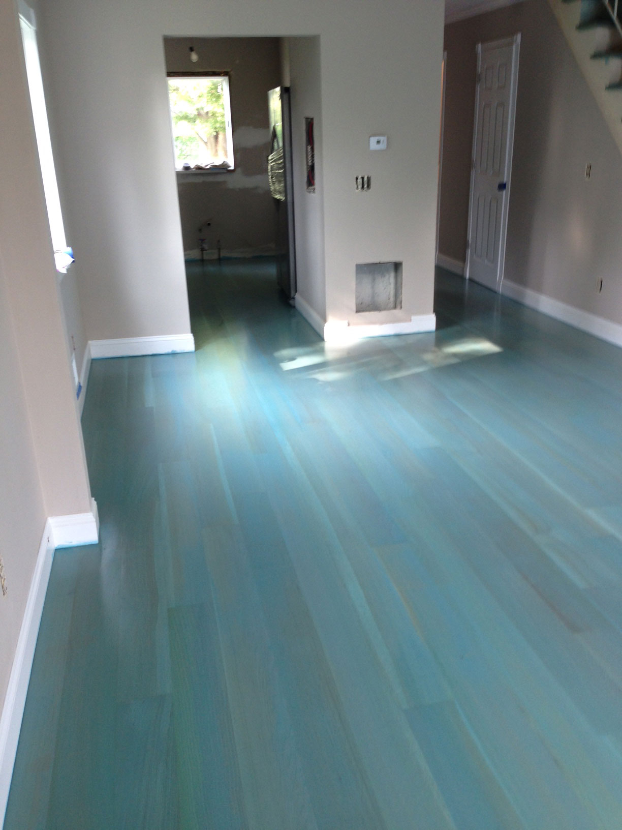 Hardwood Floor Refinishing at Private Residence at New Jersey Shore